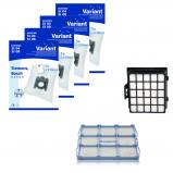 10 Staubsaugerbeutel HEPA Filter Motorfilter geeignet für Siemens VS07G2225//09