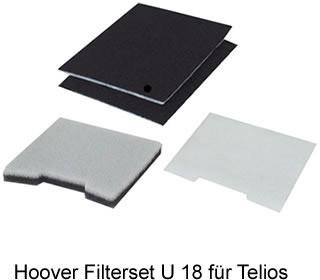 Hoover Standardfilterset U 18 - zu Serie Telios