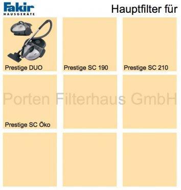 Fakir Hauptfilter Bestell-Nr. 2022095