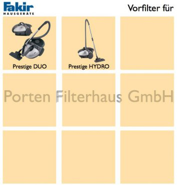Fakir Vorfilter Bestell-Nr. 2022096