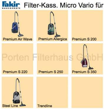 Fakir Filter-Kass. Micro Vario Bestell-Nr. 2414060