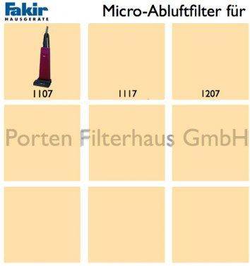 Fakir Micro-Abluftfilter Bestell-Nr. 2305275