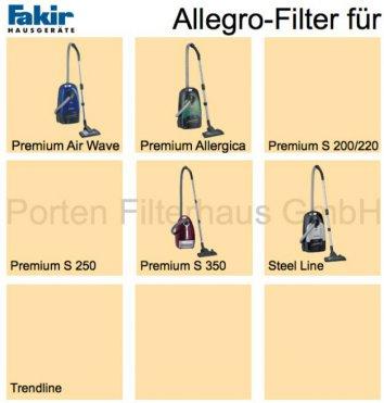 Fakir Allegro-Filter Bestell-Nr. 2705804