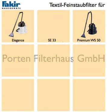 Fakir Textil-Feinstaubfilter Bestell-Nr. 2208842