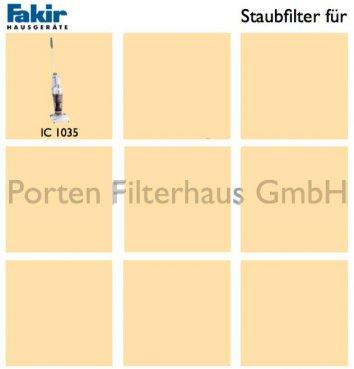 Fakir Staubfilter Bestell-Nr. 3019170