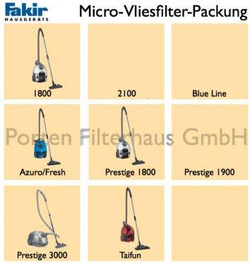Fakir Micro-Vliesfilter-Packung Bestell-Nr. 2019805