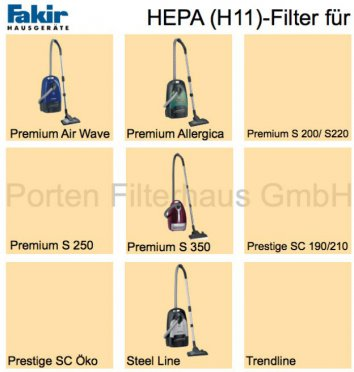 Fakir HEPA-Filter (H11) Bestell-Nr. 2413860