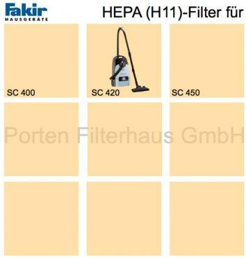 Fakir HEPA-Filter (H11) Bestell-Nr. 2484090