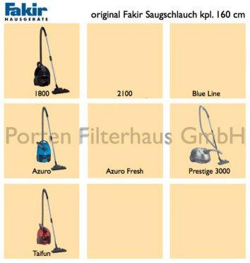 Fakir Saugschlauch kpl. 160 cm Bestell-Nr. 2018380