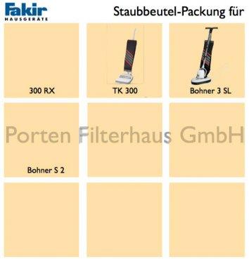 Fakir Staubsaugerbeutel-Packung Bestell-Nr. 3270805