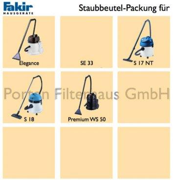 Fakir Staubsaugerbeutel-Packung Bestell-Nr. 2601805