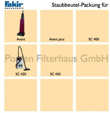 Fakir Staubsaugerbeutel-Packung Bestell-Nr. 2405805