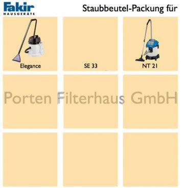Fakir Staubsaugerbeutel-Packung Bestell-Nr. 2616805