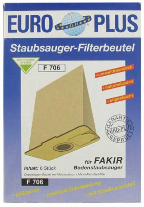 Europlus F 706 - 6 Staubsaugerbeutel
