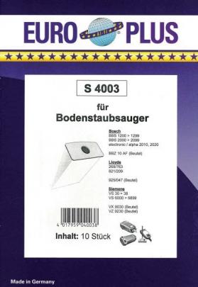 Europlus  S 4003 - 10 Staubsaugerbeutel