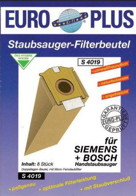 Europlus S 4019 - 8 Staubsaugerbeutel