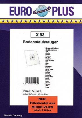 Europlus  X93 - 5 Staubsaugerbeutel