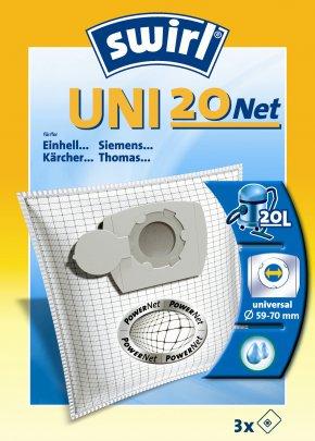 Swirl UNI 20 NET Staubsaugerbeutel