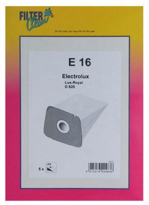 Filterclean E 16 Staubsaugerbeutel geeignet für Lux D 820