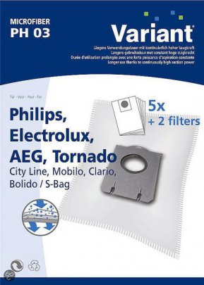 Variant PH03 Microvlies Staubsaugerbeutel + Microfilter
