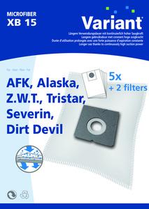 Variant XB15 Microvlies Staubsaugerbeutel + Microfilter