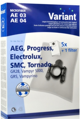 Variant AE04 Microvlies Staubsaugerbeutel + Microfilter