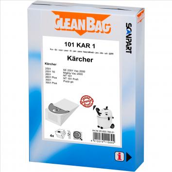 CleanBag 101 KAR 1 - 4 Staubsaugerbeutel