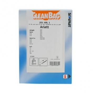 CleanBag 201 ARL 01 - 4 Staubsaugerbeutel