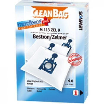 CleanBag M 113 ZEL 9  - 4 Staubsaugerbeutel