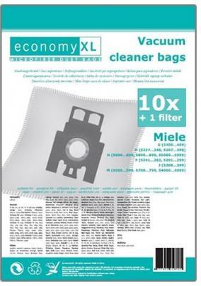 Economy XL - 10 STAUBSAUGERBEUTEL MIELE F, J, M, G, N - 10 Duftstäbchen