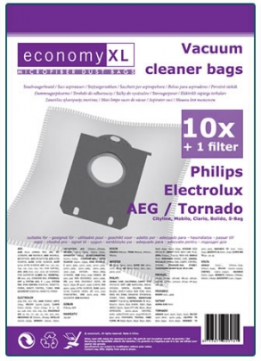 Economy XL - 10 Staubsaugerbeutel S-bag