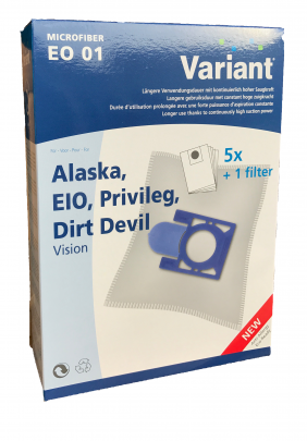 Variant EO01 Microvlies Staubsaugerbeutel + Microfilter