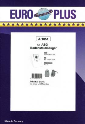 Europlus A 1051 - 5 Staubsaugerbeutel
