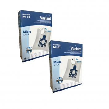 Variant MI01 Typ G/N Microvlies 10 Staubsaugerbeutel + Microfilter