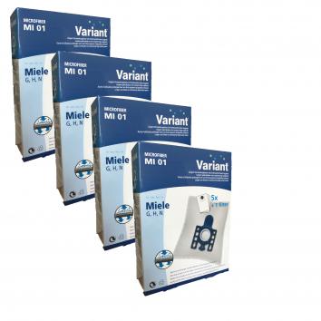 Variant MI01 Großpackung Typ G/N Microvlies Staubsaugerbeutel + Microfilter