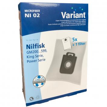 Variant NI02 Microvlies Staubsaugerbeutel + Microfilter