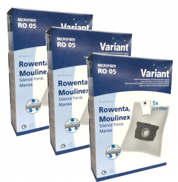 Variant RO05 Microvlies 15 Staubsaugerbeutel + 3 Microfilter