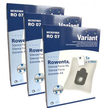 Variant RO07 Microvlies 15 Staubsaugerbeutel + Microfilter