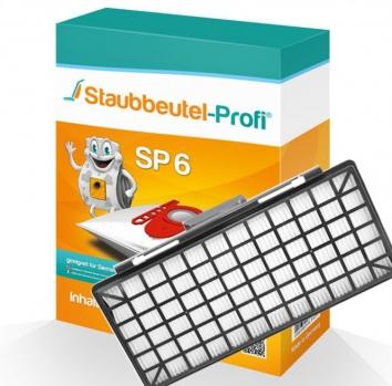 Staubbeutel-Profi SP6, 10 Staubsaugerbeutel und 1 Hepafilter kompatibel mit VZ154