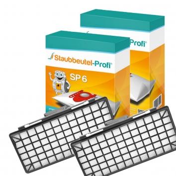 Staubbeutel-Profi SP6, 20 Staubsaugerbeutel und 2 Hepafilter kompatibel mit VZ154