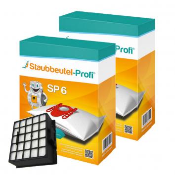 Staubbeutel-Profi SP6, 20 Staubsaugerbeutel und 1 Hepafilter kompatibel mit VZ153HFB