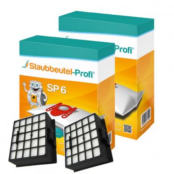 Staubbeutel-Profi SP6, 20 Staubsaugerbeutel und 2 Hepafilter kompatibel mit VZ153HFB