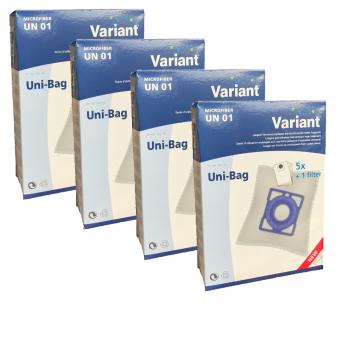 Variant UN01 Großpackung - 20 Staubsaugerbeutel