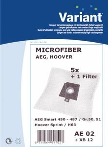 Variant AE02 Microvlies Staubsaugerbeutel + Microfilter