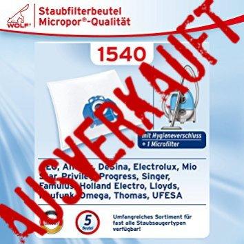 Wolf 1540 Staubsaugerbeutel Micropor