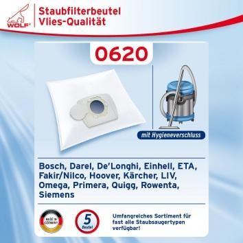 Wolf 0620 Staubsaugerbeutel Micropapier