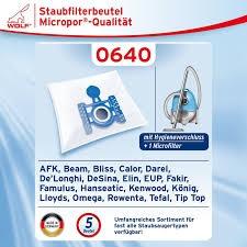 Wolf 0640 Staubsaugerbeutel Micropor