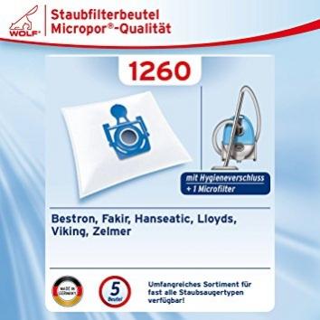 Wolf 1260 Staubsaugerbeutel Micropor