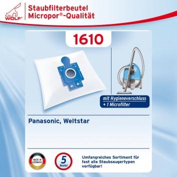 Wolf 1610 Staubsaugerbeutel Micropor
