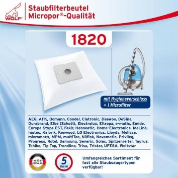 Wolf 1820 Staubsaugerbeutel Micropor